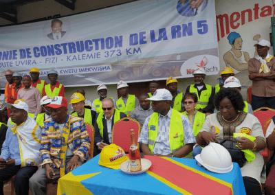 DRC Congo President Cabinet Village Road Ceremony